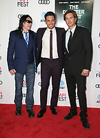 HOLLYWOOD, CA - NOVEMBER 12: Tommy Wiseau, James Franco, Greg Sestero, at the AFI Fest 2017 Centerpiece Gala Presentation of The Disaster Artist on November 12, 2017 at the TCL Chinese Theatre in Hollywood, California. Credit: Faye Sadou/MediaPunch /NortePhoto.com