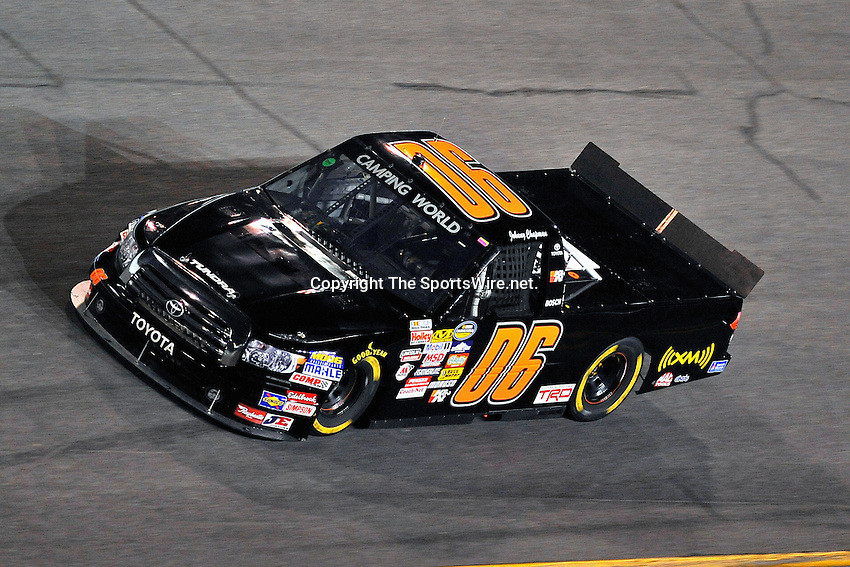 Feb 13, 2009; 8:25:19 PM; Daytona Beach, FL, USA; NASCAR Camping World Truck Series race of the NextEra Energy Resources 250 at Daytona International Speedway.  Mandatory Credit: (thesportswire.net)