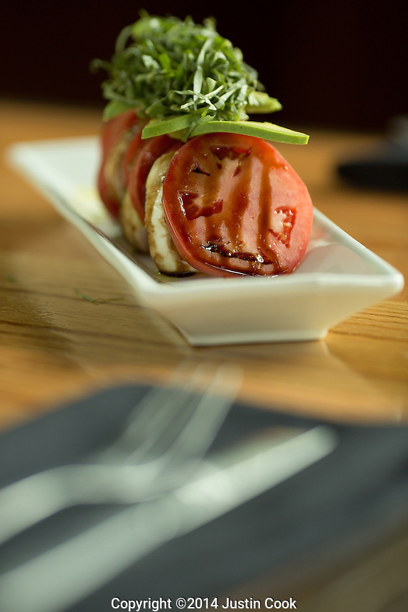 Caprese Salad at The Oak Scratch Kitchen and Bourbon Bar in Raleigh, N.C. on Thursday, July 31, 2014. (Justin Cook)