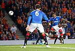 19.09.2019 Rangers v Feyenoord: Alfredo Morelos with a long range shot