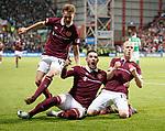 09.05.2018 Hearts v Hibs: Steven Naismith celebrates with Kyle Lafferty and Harry Cochrane