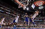 "LOS ANGELES, CA - MARCH 12:  ""One Day One Game"" Blake Griffin #32 of the Los Angeles Clippers shoots a fade away against the Golden State Warriors during their NBA Game at the Staples Center  on March 12, 2014 in Los Angeles, California.  (Photo by Donald Miralle for ESPN the Magazine)"