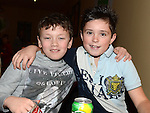 Kyle McElroy and Lee Grifferty pictured at the O'Raghallaigh's Christmas party. Photo:Colin Bell/pressphotos.ie