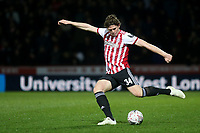 Mads Bech Sorensen of Brentford in action during Brentford vs Barnet, Emirates FA Cup Football at Griffin Park on 5th February 2019
