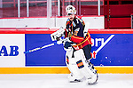 Stockholm 2014-09-17 Ishockey SHL Djurg&aring;rdens IF - Leksands IF :  <br /> Djurg&aring;rdens m&aring;lvakt goalkeeper Mikael Tellqvist  <br /> (Foto: Kenta J&ouml;nsson) Nyckelord:  Djurg&aring;rden DIF Hockey Globen Ericsson Globe Arena SHL Leksand LIF portr&auml;tt portrait