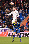 Real Madrid's Sergio Ramos and Celta de Vigo's Daniel Wass during Copa del Rey match between Real Madrid and Celta de Vigo at Santiago Bernabeu Stadium in Madrid, Spain. January 18, 2017. (ALTERPHOTOS/BorjaB.Hojas)