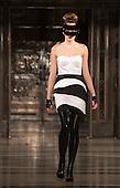 Saturday, 16 February 2013, London, England, UK. Designer Ashley Isham's catwalk show of his AW13 collection at Freemason's Hall during London Fashion Week. Photo: Bettina Strenske