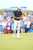Joakim Lagergren (SWE) on the 18th green during Round 4 of the Dubai Duty Free Irish Open at Ballyliffin Golf Club, Donegal on Sunday 8th July 2018.<br /> Picture:  Thos Caffrey / Golffile