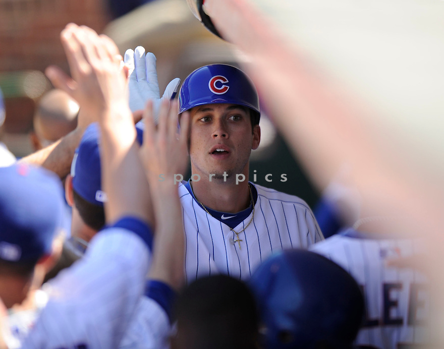 TYLER COLVIN,  of the Chicago Cubs  in action  during the Cubs game against the St. Louis Cardinals.  The Cardinals beat the Cubs 7-1 in Chicago, Illinois on May 28, 2010...DAVID DUROCHIK / SPORTPICS
