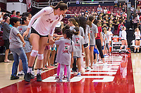 STANFORD, CA - August 28, 2016: Audriana Fitzmorris at Maples Pavilion. The Stanford Cardinal defeated the University of Minnesota 3-1.