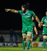 4th November 2017, Galway Sportsground, Galway, Ireland; Guinness Pro14 rugby, Connacht versus Cheetahs; Connacht captain John Muldoon gives instructions to his team