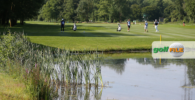 View across the pond on the 11th during Round Two of the 2015 BMW International Open at Golfclub Munchen Eichenried, Eichenried, Munich, Germany. 26/06/2015. Picture David Lloyd | www.golffile.ie