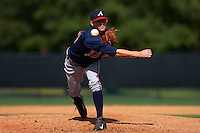 Atlanta Braves pitcher Taylor Lewis (53) during an instructional league game against the Toronto Blue Jays on September 30, 2015 at the ESPN Wide World of Sports Complex in Orlando, Florida.  (Mike Janes/Four Seam Images)