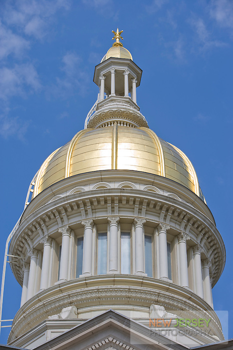 Gold Leaf covered Dome, at the New Jersey Legislative State House, Trenton, New Jersey