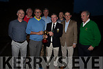 Tralee Golf Club members, winners of the Spring League sponsored by the Castle Bar receive their prize in the Castle Bar on Friday night.<br /> Front l to r: Joe Rogers, Gerard O'Sullivan (Sponsor), John O'Brien (New Captain), Kevin McCarthy and Richard Barrett (Vice Captain).<br /> Back l to r: Pat Prenderville, Jim O'Connor and Jim O'Donovan.