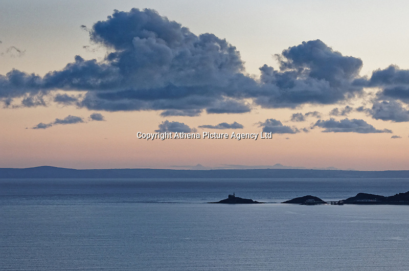 General view of Mumbles Head near Swansea, Wales, UK. Wednesday 30 January 2019