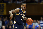 07 February 2015: Notre Dame's Demetrius Jackson. The Duke University Blue Devils hosted the University of Notre Dame Fighting Irish at Cameron Indoor Stadium in Durham, North Carolina in a 2014-16 NCAA Men's Basketball Division I game. Duke won the game 90-60.