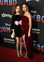 "11 March 2019 - Hollywood, California - Nico Paker, Thandie Newton. ""Dumbo"" Los Angeles Premiere held at Ray Dolby Ballroom. Photo Credit: Birdie Thompson/AdMedia"