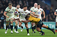 Ben Youngs of England takes on the Australia defence. Old Mutual Wealth Series International match between England and Australia on November 18, 2017 at Twickenham Stadium in London, England. Photo by: Patrick Khachfe / Onside Images