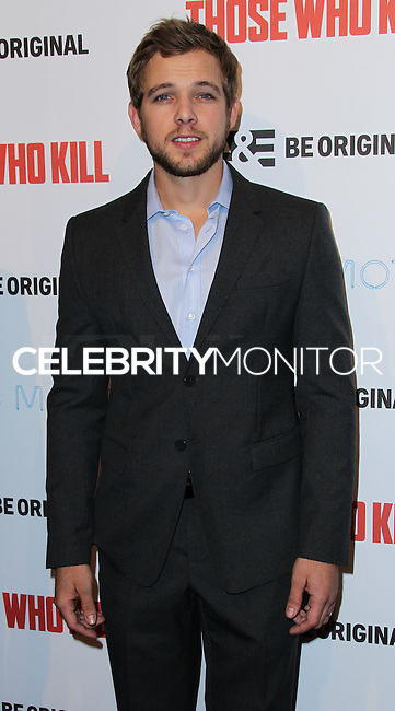 """HOLLYWOOD, LOS ANGELES, CA, USA - FEBRUARY 26: Max Thieriot at the Premiere Party For A&E's Season 2 Of """"Bates Motel"""" & Series Premiere Of """"Those Who Kill"""" held at Warwick on February 26, 2014 in Hollywood, Los Angeles, California, United States. (Photo by Xavier Collin/Celebrity Monitor)"""