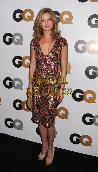 Emily VanCamp.Arriving at the GQ Men Of The Year Party at Chateau Marmont Hotel in Los Angeles, California, USA..November 13th, 2012.full length dress pink orange gold sequins sequined brown.CAP/ROT/TM.©Tony Michaels/Roth Stock/Capital Pictures