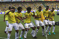 BARRANQUILLA -COLOMBIA, 11-OCTUBRE-2016. Abel Aguilar jugador de Colombia celebra su gol contra Uruguay durante el  encuentro  por las eliminatorias al mundial de Rusia 2018  disputado en el estadio Metropolitano Roberto Meléndez de Barranquilla./Abel Aguilar Colombia player celebrates his goal against of Uruguay during the qualifying match for the 2018 World Championship in Russia Metropolitano Roberto Melendez stadium in Barranquilla . Photo:VizzorImage / Felipe Caicedo  / Staff