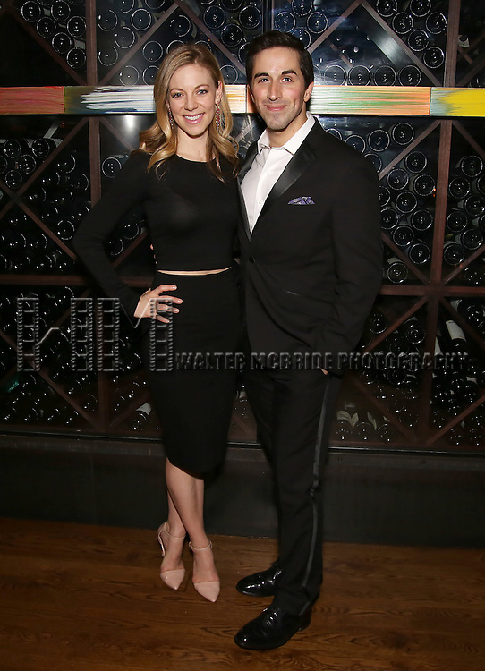 Kirsten Scott and Matthew Scott attend the DGF Reception for Andrew Lippa & Friends at Landmarc on February 1, 2017 in New York City.