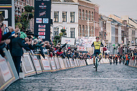 Danny Van Poppel (NED/LottoNL-Jumbo) wins the 2018 Binche - Chimay - Binche / Memorial Frank Vandenbroucke (1.1 Europe Tour)<br /> <br /> 1 Day Race: Binche to Binche (197km)