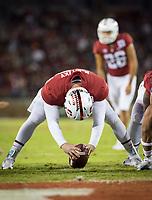 Stanford, CA - October 5, 2019: Richard McNitzky, Jet Toner at Stanford Stadium. The Stanford Cardinal beat the University of Washington Huskies 23-13.