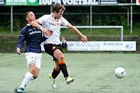 HAREN , Voetbal,  Be Quick - Quick, Derde Divisie zondag seizoen 2017-2018, 17-09-2017, Thoas careman in duel met Virgil Tjon Asjoe