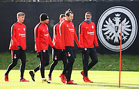 Noel Knothe (Eintracht Frankfurt), Simon Falette (Eintracht Frankfurt), Marco Russ (Eintracht Frankfurt), Sebastien Haller (Eintracht Frankfurt) - 29.12.2017: Eintracht Frankfurt Training, Commerzbank Arena