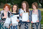 OVERTHE MOON: Four student from Miltown Presentation Secondry School who were over the moon with their leaving cert results on Wednesday, l-r: Saoire Claffrey (Ballyhar), Sinead Murphy (Killorglin), Helena Hogan and Michelle Houlihan (Glenbeigh)...