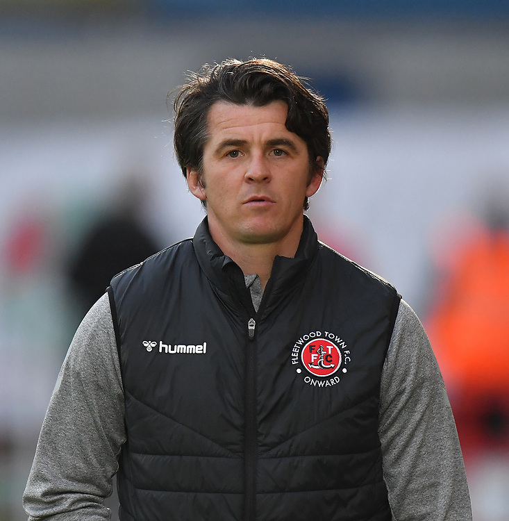 Fleetwood Town's Manager Joey Barton<br /> <br /> Photographer Dave Howarth/CameraSport<br /> <br /> EFL Leasing.com Trophy - Northern Section - Group B - Tuesday 3rd September 2019 - Accrington Stanley v Fleetwood Town - Crown Ground - Accrington<br />  <br /> World Copyright © 2019 CameraSport. All rights reserved. 43 Linden Ave. Countesthorpe. Leicester. England. LE8 5PG - Tel: +44 (0) 116 277 4147 - admin@camerasport.com - www.camerasport.com