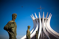 Brasilia_DF, Brasil...Catedral Metropolitana Nossa Senhora Aparecida ou Catedral de Brasilia, localizada na Esplanada dos Ministerios em Brasilia, Distrito Federal...Metropolitan Cathedral Nossa Senhora Aparecida or Cathedral of Brasilia, located at the Esplanada dos Ministerios in Brasilia, Distrito Federal...Foto: JOAO MARCOS ROSA / NITRO