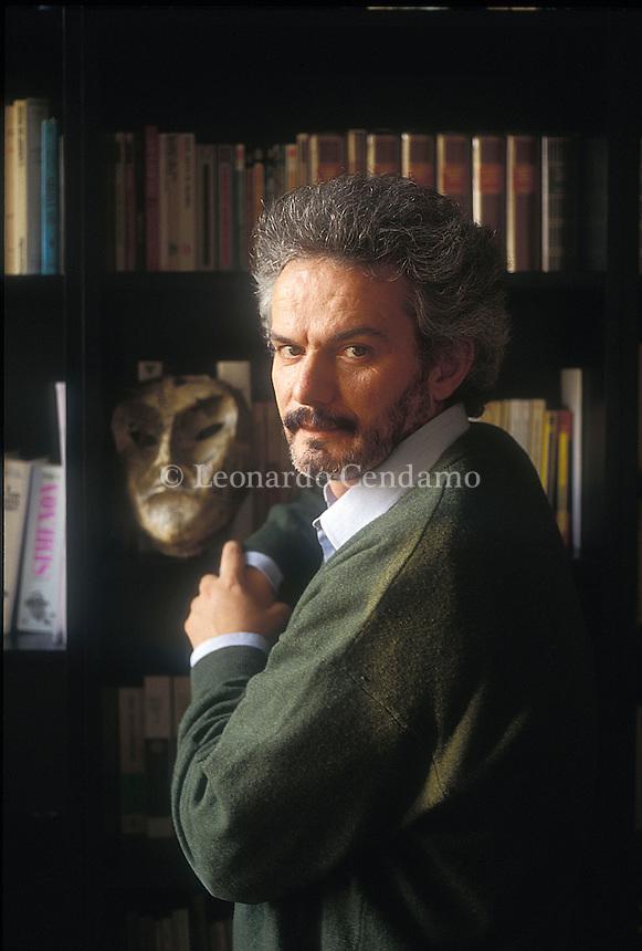 Corsico, Milan, Italy. Edgardo Franzosini, Italian writer. © Leonardo Cendamo