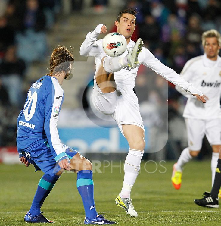 Real Madrid's Cristiano Ronaldo during la Liga match on February 4th 2012. ..Photo: Cesar Cebolla / ALFAQUI