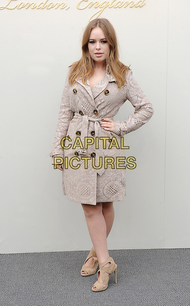 LONDON, ENGLAND - FEBRUARY 22: Tanya Burr attends the Burberry Prorsum Womenswear A/W 2016 fashion show on West Albert Lawns in Kensington Gardens on February 22, 2016 in London, England.<br /> CAP/BEL<br /> &copy;Tom Belcher/Capital Pictures