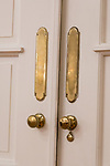 Door handles in the Dining Room.