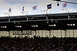 Stoke City 1 West Bromwich Albion 1, 24/09/2016. Bet365 Stadium, Premier League. Premier League flags and Stoke City flags flying at The Bet365 stadium. Photo by Paul Thompson.