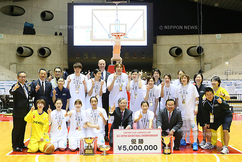 JX-ENEOSJX-ENEOS Sunflowers team group, <br /> JANUARY 12, 2014 - Basketball : <br /> All Japan Basketball Championship 2014 <br /> Empress's Cup Final <br /> between JX-ENEOS Sunflowers 69-61 TOYOTA Antelopes <br /> at 1st Yoyogi Gymnasium, Tokyo, Japan. <br /> (Photo by YUTAKA/AFLO SPORT) [1040]