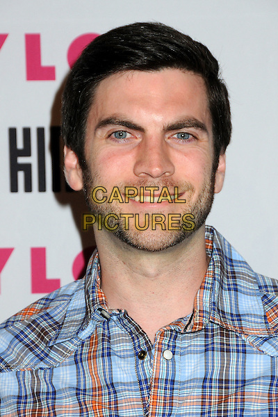 WES BENTLEY.Nylon Magazine's Young Hollywood Party held at the Roosevelt Hotel's Tropicana Bar, Hollywood, California, USA..May 12th, 2010.headshot portrait blue brown check stubble facial hair.CAP/ADM/BP.©Byron Purvis/AdMedia/Capital Pictures.