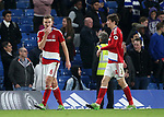 Middlesbrough's Ben Gibson looks on dejected at the final whistle during the Premier League match at Stamford Bridge Stadium, London. Picture date: May 8th, 2017. Pic credit should read: David Klein/Sportimage