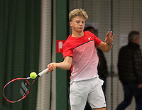 Rotterdam, The Netherlands, March 20, 2016,  TV Victoria, NOJK 14/18 years, Len Schouten (NED)<br /> Photo: Tennisimages/Henk Koster