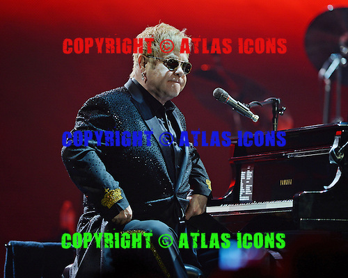 ESTERO FL - MARCH 09: Elton John performs on the Wonderful Crazy Night Tour at The Germain Arena on March 9, 2016 in Estero, Florida. Photo by Larry Marano © 2016