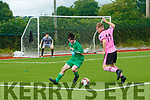 In Action at the SSE Airtricity U17 League Kerry V Wexford at Mounthawk Park on Sunday were Wexford's Brandon Deady and kerry's Thomas Burke