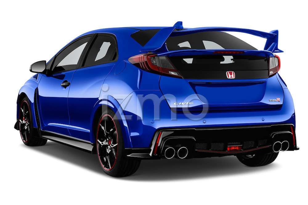 Car pictures of rear three quarter view of 2015 Honda Civic Type-R 5 Door Hatchback Angular Rear