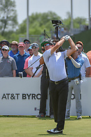 Brian Gay (USA) watches his tee shot on 11 during round 3 of the AT&amp;T Byron Nelson, Trinity Forest Golf Club, at Dallas, Texas, USA. 5/19/2018.<br /> Picture: Golffile | Ken Murray<br /> <br /> <br /> All photo usage must carry mandatory copyright credit (&copy; Golffile | Ken Murray)