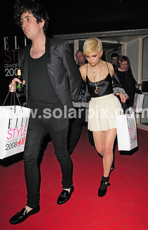 **ALL ROUND PICTURES FROM SOLARPIX.COM**.**WORLDWIDE SYNDICATION RIGHTS**.Departures from the Elle Style Awards.  Held at the Westway Sports Centre, London. 12th February 2008...This pic: Pixie Geldof..JOB REF: 5775 SSD     DATE: 12_02_2008.**MUST CREDIT SOLARPIX.COM OR DOUBLE FEE WILL BE CHARGED* *UNDER NO CIRCUMSTANCES IS THIS IMAGE TO BE REPRODUCED FOR ANY ONLINE EDITION WITHOUT PRIOR PERMISSION*