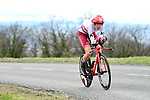 Ilnur Zakarin (RUS) Katusha Alpecin in action during Stage 4 of the Paris-Nice 2018 an 18km individual time trial running from La Fouillouse to Saint-Etienne, France. 7th March 2018.<br /> Picture: ASO/Alex Broadway | Cyclefile<br /> <br /> <br /> All photos usage must carry mandatory copyright credit (&copy; Cyclefile | ASO/Alex Broadway)