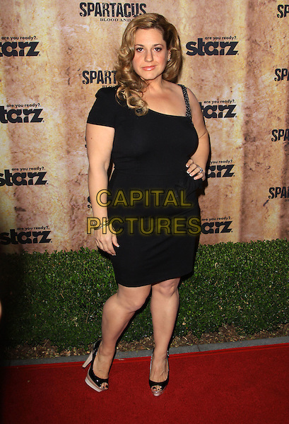 MARISSA JARET WINOKUR.Starz original TV series 'Spartacus: Blood and Sand' held At The Hammer Museum, Westwood, California, USA..January 14th, 2010.full length black one shoulder strap dress hand on hip.CAP/ADM/KB.©Kevan Brooks/AdMedia/Capital Pictures.